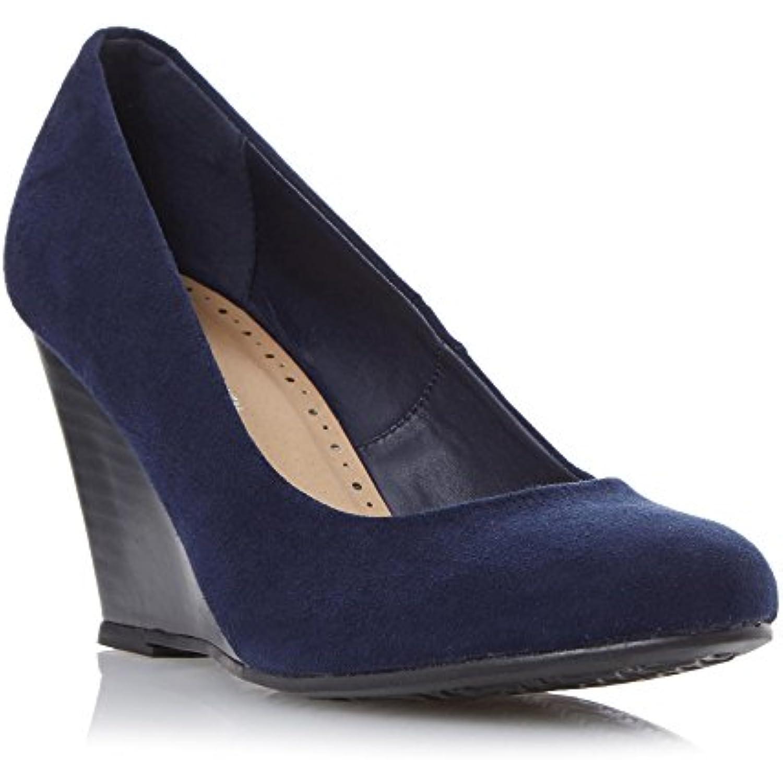 Roberto Vianni Mesdames Amaya Talon Compensé Cour Chaussures en en Chaussures bleu marine - B01E17JNGE - bf3606