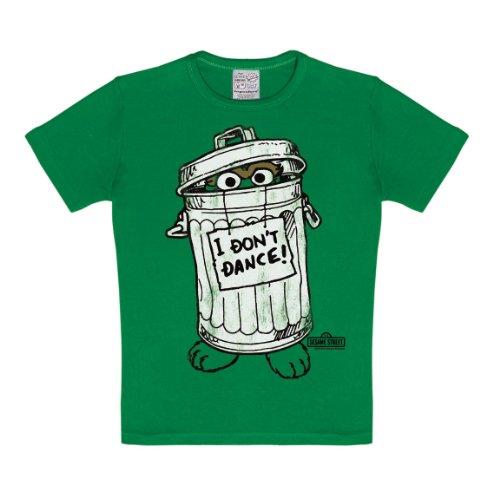 Logoshirt Jungen kurz sleevet-shirt Gr. 15-16 Jahre, Grün (Grün) (Bert Und Ernie Kostüme Kinder)