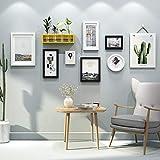 Nordische Fotowand,Einfache Moderne Wand Foto-Frame-Kombination,Wohnzimmer Schlafzimmer Dekorative malerei,Fotowand-F