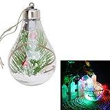 Hergon LED-Leuchtmittel, Weihnachtsbaum-Hängekugel, Weihnachtsbaum, Weihnachtsdekoration, Basteln, glas, C, m