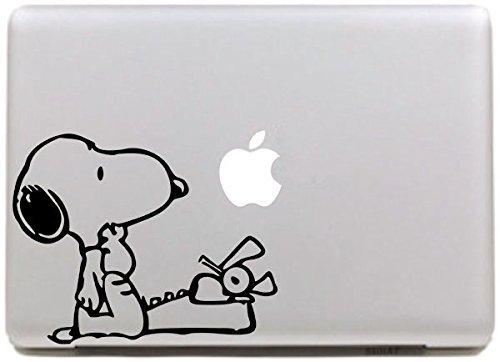 Vati Blätter Removable Kreative Snoopy Anruf Aufkleber Aufkleber Skin Art Schwarz für Apple Macbook Pro Air Mac 13