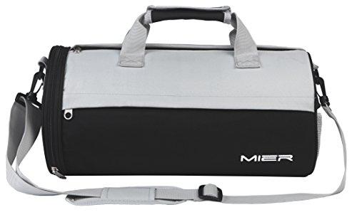 MIER Barrel Sport Bag Small Borsa da palestra con scarpe Vano per uomini e donne, 2 Size