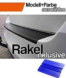 Passat B7 Variant Ladekantenschutz Lackschutzfolie mit Profi-Rakel in 3D Carbon Schwarz