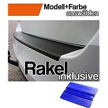 T5 Ladekantenschutz Lackschutzfolie mit Profi-Rakel in 3D Carbon Schwarz