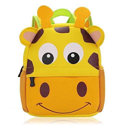 Vox Tier Kinderrucksack Kindergarten Rucksack für Kleinkinder Mädchen Jungen Babyrucksack Wasserdicht (Giraffe)