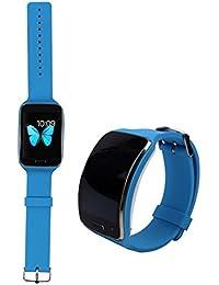 Correa de reloj de recambio, happytop 23mm TPU pulsera reloj banda correa para la muñeca para Samsung Galaxy Gear S R750, hombre, azul celeste, S