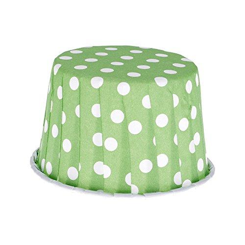 Backen Kuchenform Cupcake Liner Kuchen-Zwischenlage Papiermuffin Kasten Box Halter Grüne Punkte (Grüne Cupcake-liner)