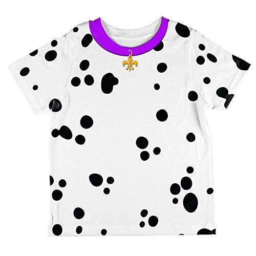 Unbekannt Faschingsdienstag Hund Dalmatiner Kostüm Lila Halsband Fleur De Lis Aller Kleinkind T Shirt Multi 6 t (Dalmatiner Kostüm Für Kleinkind)