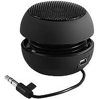 Zerone Altoparlante Wireless, Altoparlante Portatile da Viaggio Mini con Jack Aux Audio da 3,5 mm Plug-in Bass Batteria Incorporata per Smartphone, iPad e Computer(nero)