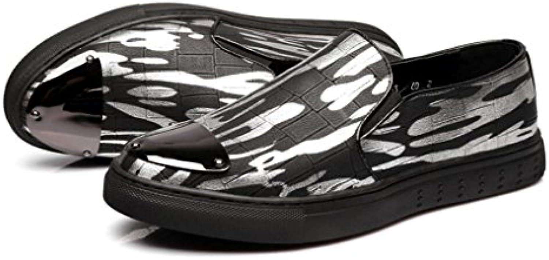 Zapatos de Hombre Mocasines Planos de Cuero Mochilas de Primavera/Otoño Mocasines y Slip-Ons Zapatos para Caminar...