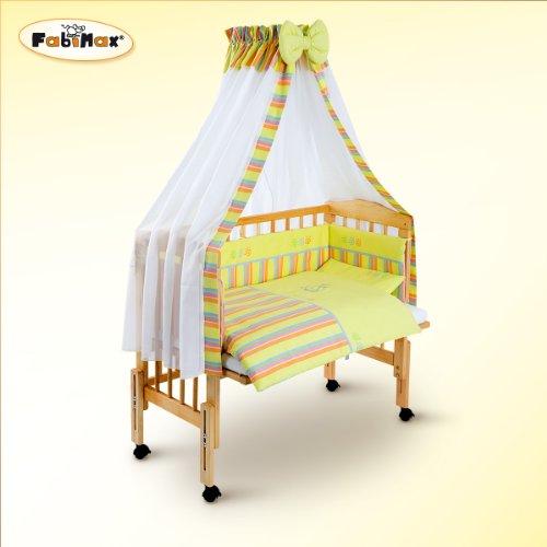 FabiMax Beistellbett PRO mit Vollausstattung Emily gelb, Matratze COMFORT - Emily Baby Möbel