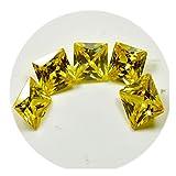 Gelb Cubic Zirkon 15Karat Lose Edelstein Viel 5teilig Eckig Astrologische Machen Geburtsstein Perlen