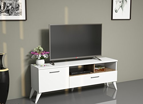 sinba wonwand wei nussbaum tv lowboard fernsehtisch in modernem design m. Black Bedroom Furniture Sets. Home Design Ideas