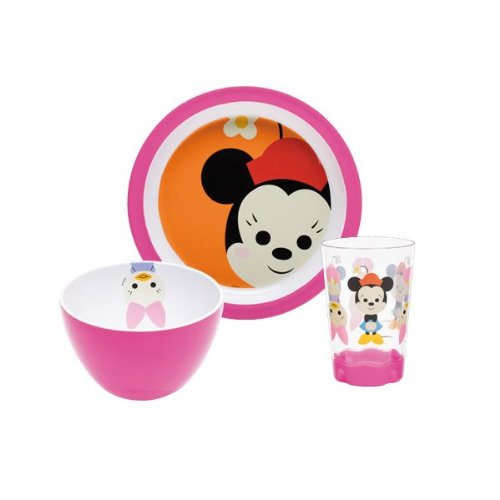 Zak Designs MMLX-0391 Disney Set Enfant 3 Pièces Minnie