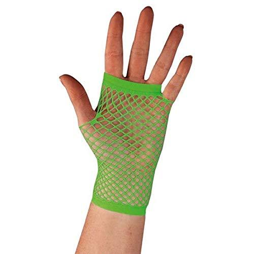 Widmann Netzhandschuhe (Flo grün) (Halloween Flo-kostüm Für)