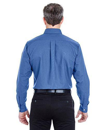 Hoch Classic Herren faltenfrei langen Ärmeln Oxford (8970T) blau (french blue)