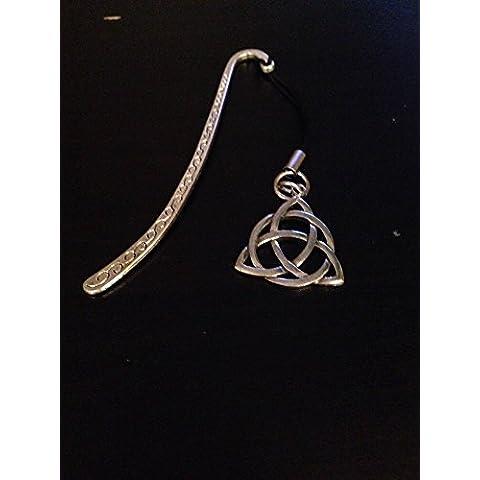 Simbolo celtico Triquetra con nodo Refctkpp-Segnalibro 3D motivo: English pewter ciondolo