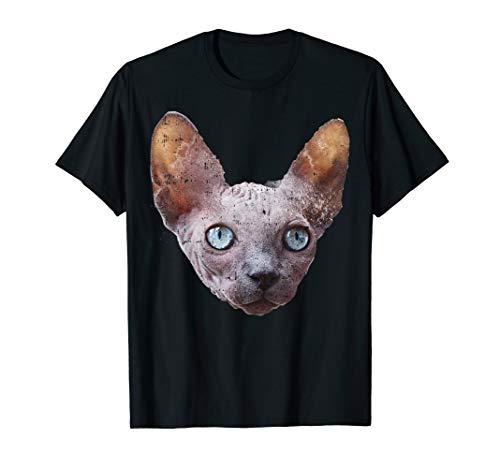 Gesicht Katze Kostüm Einfach - Real Sphynx Katze Gesicht Kostüm Nettes Halloween Outfit T-Shirt