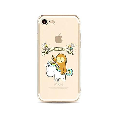 iPhone 6/6S MUTOUREN case cover?TPU Soft Silicone Bumper Case Coverultra-thin Virtually Premium Cell Phone cover Protective Shock-Absorption non-slip-unicorn 10