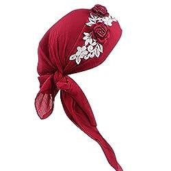 Winkey 2018 est Women Head Scarf,Head Scarf for Women Summer UV Protection Bandana Cap Turban Beanie Hat Headwear for Hair Loss,Chemo,Cancer by 655387056777