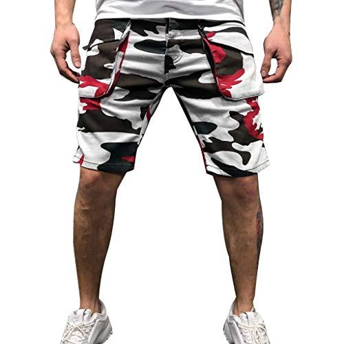 Herren Camouflage Neue Stil Baumwolle Multi-Pocket Overalls Shorts Mode Hose Amoyl