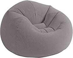 Intex Beanless Bag Chair Aufblasmöbel - Sitzsack - 107 x 104 x 69 cm - Grau