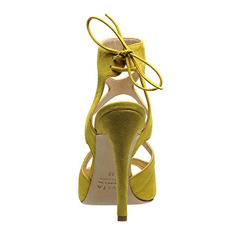 EMMA sandales femme daim Jaune