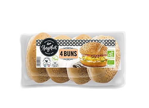 LANGELUS Bio Hamburger Buns mit Sesam (2 x 200 gr)