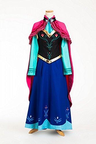shoperama Super Deluxe Kostüm Eiskönigin Frozen Anna auf Reisen - Modell 1, Größe:M