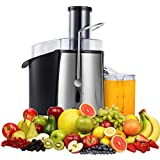 PureMate 1000W NaturoPure Powerful Whole Fruit and Vegetable Juice Extractor, Centrifugal Juicer Machine with 2 Speed Settings, BPA-Free, 75MM Wide Mouth with 1L Juice Jug & 2L Pulp Container