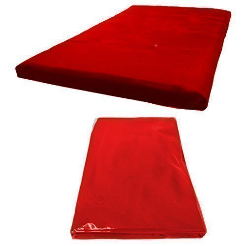 Futon Mattress COVER ONLY, Single 1 Seater in Red. Available in 11 Colours