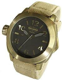 Welder K51-9100 - Reloj para hombres, correa de cuero color beige
