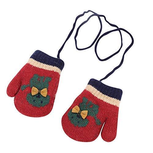 Mitones con una cuerda Bebé 0-2 años Guante de punto Invierno cálido...
