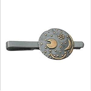 Himmelsscheibe von Nebra, Krawattenschieber Krawattenklammer, Ø 25mm 925/– Silber