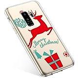 Kompatibel mit Handyhülle Galaxy S9 Plus Hülle Transparent Silikon Ultra Dünn Schutzhülle Durchsichtig Handyhülle Kristall Weiche Silikon TPU Handytasche Rückschale,Weihnachten Geschenk