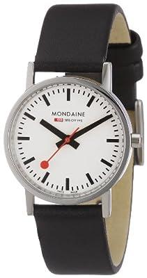 Reloj de caballero Mondaine A658.30323.11SBB de cuarzo, correa de piel color negro de Mondaine