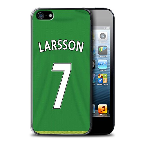 Offiziell Sunderland AFC Hülle / Case für Apple iPhone 5/5S / Kone Muster / SAFC Trikot Away 15/16 Kollektion Larsson