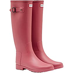 Hunter Botas plisadas de Caucho Mujer, Color Rosa, Talla 40/41 EU