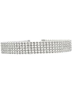 Yogogo Voller Diamant Kristallrhinestone Choker Halsketten Hochzeits Schmucksachen für Frauen
