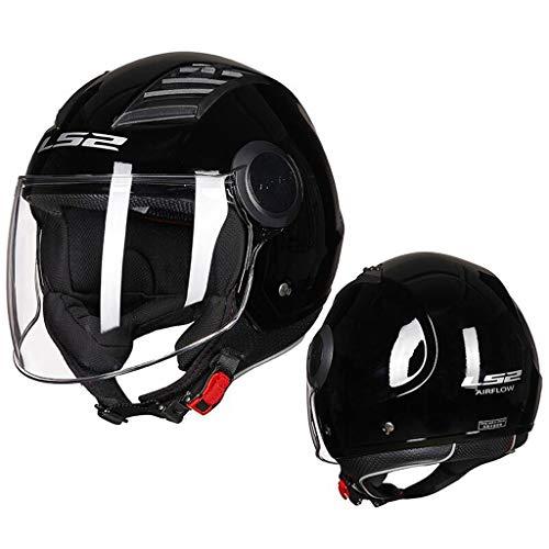 GXQ Casco Moto Uomo e Donna XL 4XL Big Head Summer Protezione Solare Mezza Casco Retro Electric Car Helmet (1 Top Helmet) (Color : B, Size : XXXXL)