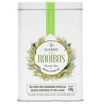 Sunbird Rooibos 100g Cederberg Foothills Rooibos Vert Bio Feuilles entières 40 Sachets - Antioxydant - Bon pour l'hypertension et le Cholesterol - Detox