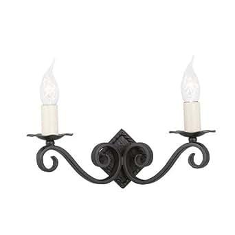 Applique Rectory A noir 2 ampoules