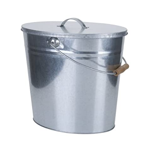 Kamino-Flam 333259 Ash Can for Open Fire, Silver, 40x28x35 cm
