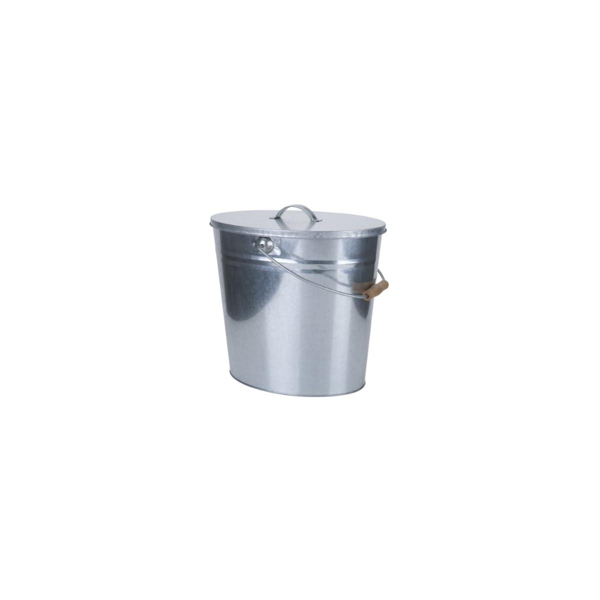 41woJibr5RL. SS1200  - Kamino-Flam-Cubo para carbón (galvanizado, 24L con tapa