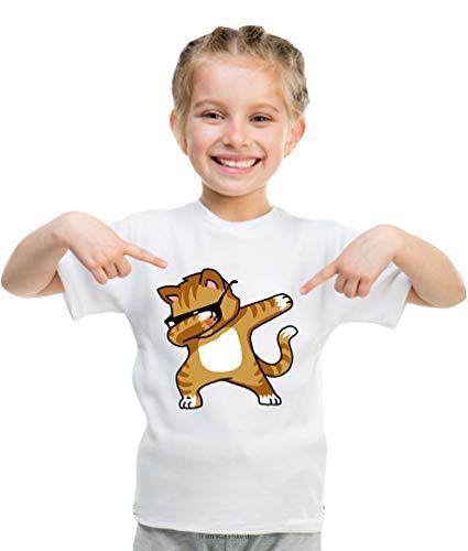 Unisex Kinder Jungen Mädchen Baumwoll T-Shirt Karikatur Katze Muster Beiläufiges Lange Ärmel Tops Einhorn Lustige Ausdrucksaktion Tier