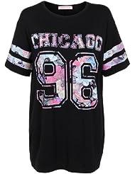 Camiseta con Estampado de Equipo Deportivo Chicago Floral