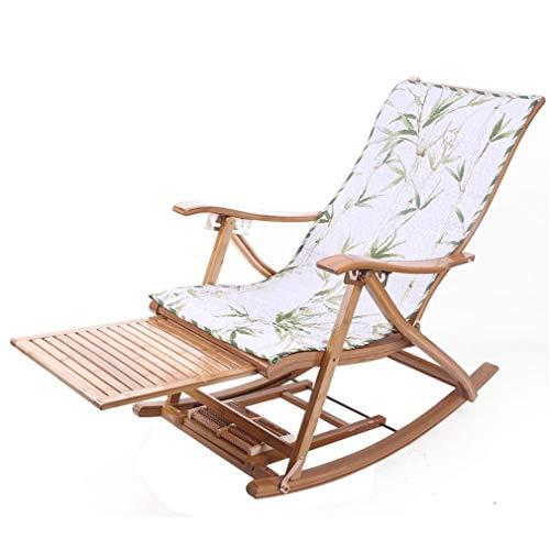 Aileyou sedia a dondolo pieghevole, sedie a sdraio per anziani camera da letto in bambù soggiorno balcone sdraio schienale poltrona da giardino sedia da giardino b