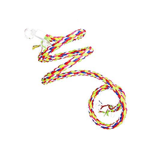 Demino Cockatiel Papageien Spielzeug Cotton Seil hängend Stehen Chew-Vogel-Käfig Spielzeug für Funny Haustiere Tages Zubehör 1.6m * 1.5cm -