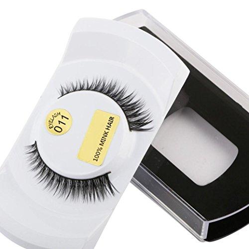 MMLC 1 Paar 3D Wimpern Natural Dicke Fake falsche Wimpern makeup Verlängerungen für Frauen (J) (Halloween Für Fake-wimpern)