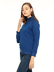 Vvoguish Womens Regular Fit Cotton Top (VVSWTSHRT980IND_Indego_40)